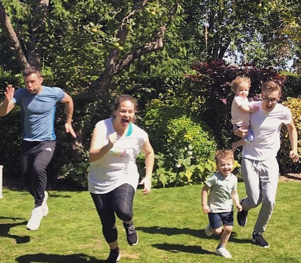 Tom Fletcher's son also keeps fit with his McFly bandmate Harry Judd. Copyright: [Instagram]