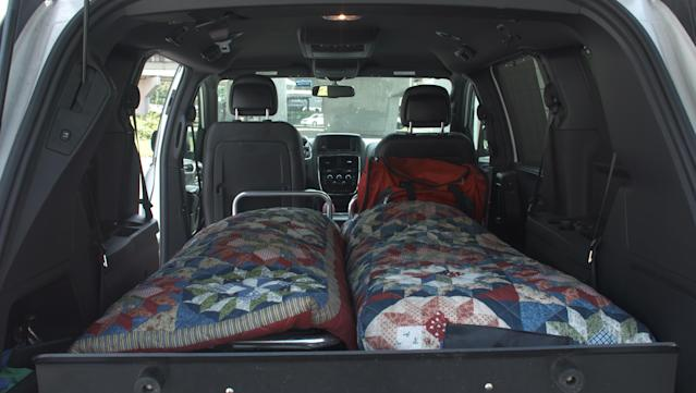 Charleston Mortuary Services has five vans retrofitted to carry two bodies at a time. (Quincy Ledbetter/HuffPost)