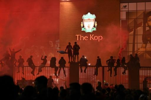 Liverpool fans ignored pleas to stay away from Anfield for Wednesday's Premier League trophy lift