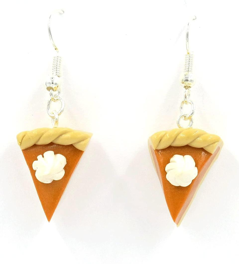 <p>These <span>Pumpkin Pie Dangle Earrings</span> ($28) are an ode to your favorite fall dessert.</p>