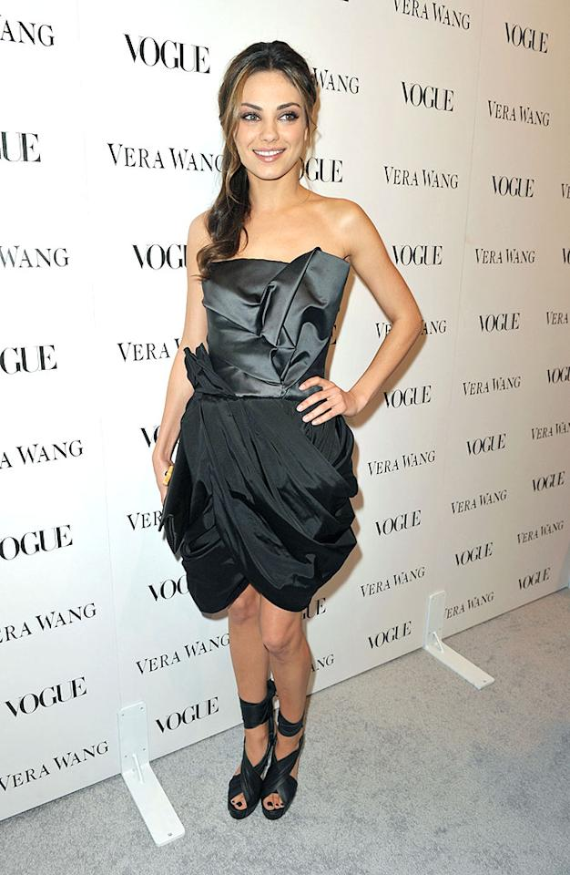 """Mila Kunis was clad in black from her drapey dress right down to her toes! John Shearer/<a href=""""http://www.wireimage.com"""" target=""""new"""">WireImage.com</a> - March 2, 2010"""
