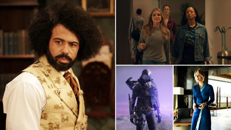 Clockwise from left: The Good Lord Bird (Photo: William Gray/Showtime); Tiny Pretty Things (Photo: Netflix); The Flight Attendant (Photo: Phil Caruso/HBO Max); Destiny 2: Beyond Light (Image: Bungie)