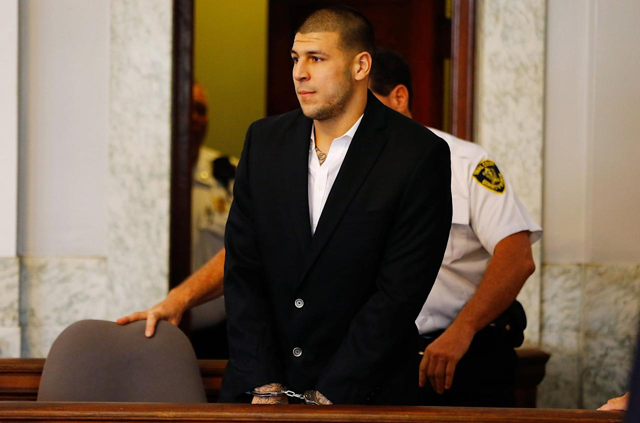"<p>During the proceedings of the Lloyd case, police also linked Hernandez to several other investigations. They connected him to the drive-by shooting that killed cleaners Daniel de Abreu and Safiro Furtado in Boston in July 2012. In a <a href=""https://www.wpri.com/news/settlement-reached-in-aaron-hernandez-lawsuit-over-shooting-friend-in-face/"" target=""_blank"" class=""ga-track"" data-ga-category=""Related"" data-ga-label=""https://www.wpri.com/news/settlement-reached-in-aaron-hernandez-lawsuit-over-shooting-friend-in-face/"" data-ga-action=""In-Line Links"">lawsuit for damages</a>, Alexander Bradley alleged that Hernandez shot him in the face after he confronted the football player about the murders and that the shooting left permanent damage in his eye. In 2016, he and Hernandez <a href=""https://www.wpri.com/news/settlement-reached-in-aaron-hernandez-lawsuit-over-shooting-friend-in-face/"" target=""_blank"" class=""ga-track"" data-ga-category=""Related"" data-ga-label=""https://www.wpri.com/news/settlement-reached-in-aaron-hernandez-lawsuit-over-shooting-friend-in-face/"" data-ga-action=""In-Line Links"">reached a settlement</a>. </p> <p>Represented by celebrity attorney Jose Baez, Hernandez was, however, eventually acquitted from the double murder in 2017. Baez criticized the police in court and argued that Hernandez was targeted as an NFL player. That wasn't the end of the legal proceedings - Hernandez had still been trying to appeal <a href=""https://www.gainesville.com/news/20170421/gpd-closes-unsolved-shooting-case-involving-hernandez"" target=""_blank"" class=""ga-track"" data-ga-category=""Related"" data-ga-label=""https://www.gainesville.com/news/20170421/gpd-closes-unsolved-shooting-case-involving-hernandez"" data-ga-action=""In-Line Links"">his 2015 conviction</a>. </p> <p>Besides the double homicide, Hernandez also briefly became linked to a <a href=""https://newschannel9.com/news/nation-world/gainesville-police-no-evidence-aaron-hernandez-connected-to-2007-shooting"" target=""_blank"" class=""ga-track"" data-ga-category=""Related"" data-ga-label=""https://newschannel9.com/news/nation-world/gainesville-police-no-evidence-aaron-hernandez-connected-to-2007-shooting"" data-ga-action=""In-Line Links"">2007 shooting case in Gainesville, FL,</a> that wounded two men. Detective Tom Mullins wrote in a report that Hernandez had been in the club where the shooting occurred along with the victims and witnesses, but there wasn't any evidence that suggested he participated in the shooting. The only person to say that he saw Hernandez later recanted his statement.</p> <p>Later in 2019, <a href=""https://www.cbssports.com/nfl/news/aaron-hernandezs-ex-cellmate-claims-former-nfl-star-had-ties-to-fourth-murder-in-new-book/"" target=""_blank"" class=""ga-track"" data-ga-category=""Related"" data-ga-label=""https://www.cbssports.com/nfl/news/aaron-hernandezs-ex-cellmate-claims-former-nfl-star-had-ties-to-fourth-murder-in-new-book/"" data-ga-action=""In-Line Links"">Hernandez's former cellmate</a> also claimed that Hernandez joked about a fourth victim. Apparently, Hernandez had hired a crew of associates that shot a person by accident, mistaking him for Lloyd. In his book about Hernandez, Dylan Howard said he believes that person may be Jordan Miller, who died at Boston's Hyde Park in <a href=""http://www.nbcsports.com/boston/patriots/aaron-hernandez-may-be-linked-fourth-murder-new-book-claims"" target=""_blank"" class=""ga-track"" data-ga-category=""Related"" data-ga-label=""http://www.nbcsports.com/boston/patriots/aaron-hernandez-may-be-linked-fourth-murder-new-book-claims"" data-ga-action=""In-Line Links"">an unsolved shooting case</a>.</p> <h2></h2>"