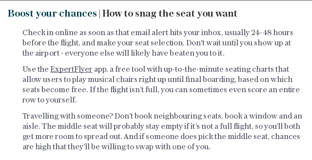 Boost your chances | How to snag the seat you want