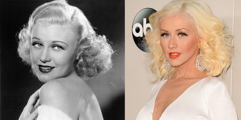<p>Christina Aguilera and '40s icon Ginger Rogers share more similarities than just being blonde bombshells. They also both made it in Hollywood as singers.</p>