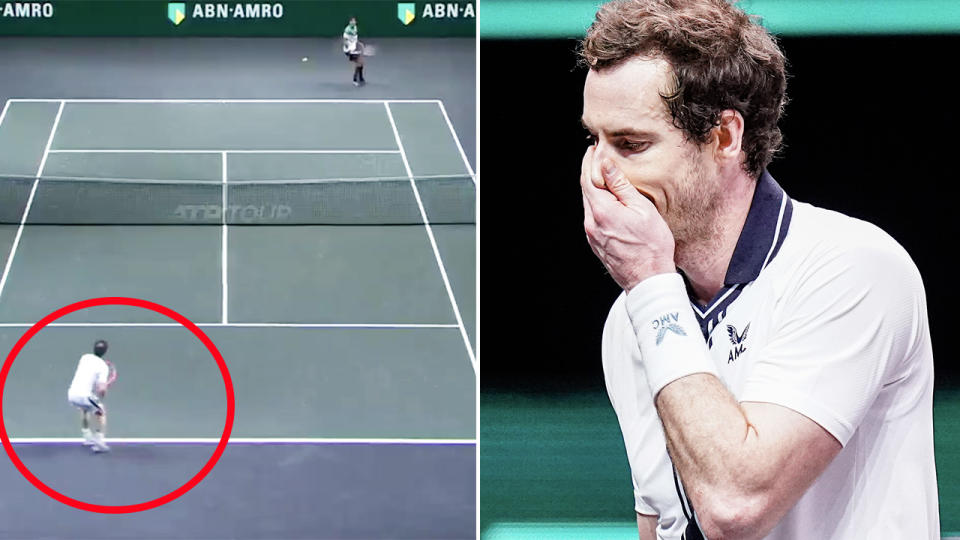 Andy Murray, pictured here after his win over Robin Haase in Rotterdam.