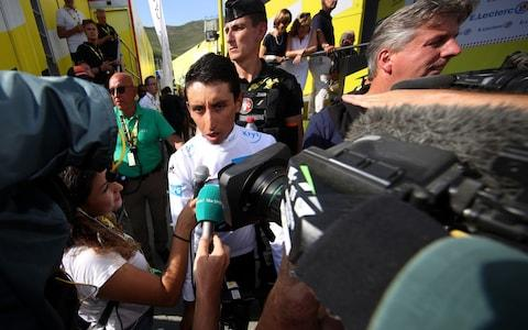 <span>Egan Bernal's form has led to talk of an intra-Ineos battle</span> <span>Credit: getty images </span>