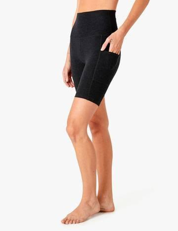 <p>If you're going on hikes or runs, these <span>Beyond Yoga Spacedye Team Pockets Biker Shorts</span> ($72) are the perfect pick.</p>