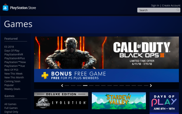 Online marketplaces like Sony's PlayStation Store have cut into the sale of physical copies of games.tech