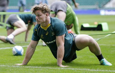 Britain Rugby Union - Australia Captain's Run - Twickenham Stadium - 7/10/16 Michael Hooper of Australia during training Action Images via Reuters / Henry Browne Livepic