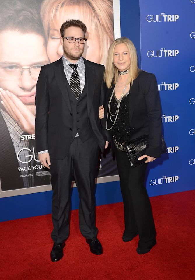 WESTWOOD, CA - DECEMBER 11:  Actors Seth Rogen and Barbara Streisand attend the premiere of Paramount Pictures' 'The Guilt Trip at Regency Village Theatre on December 11, 2012 in Westwood, California.  (Photo by Jason Merritt/Getty Images)
