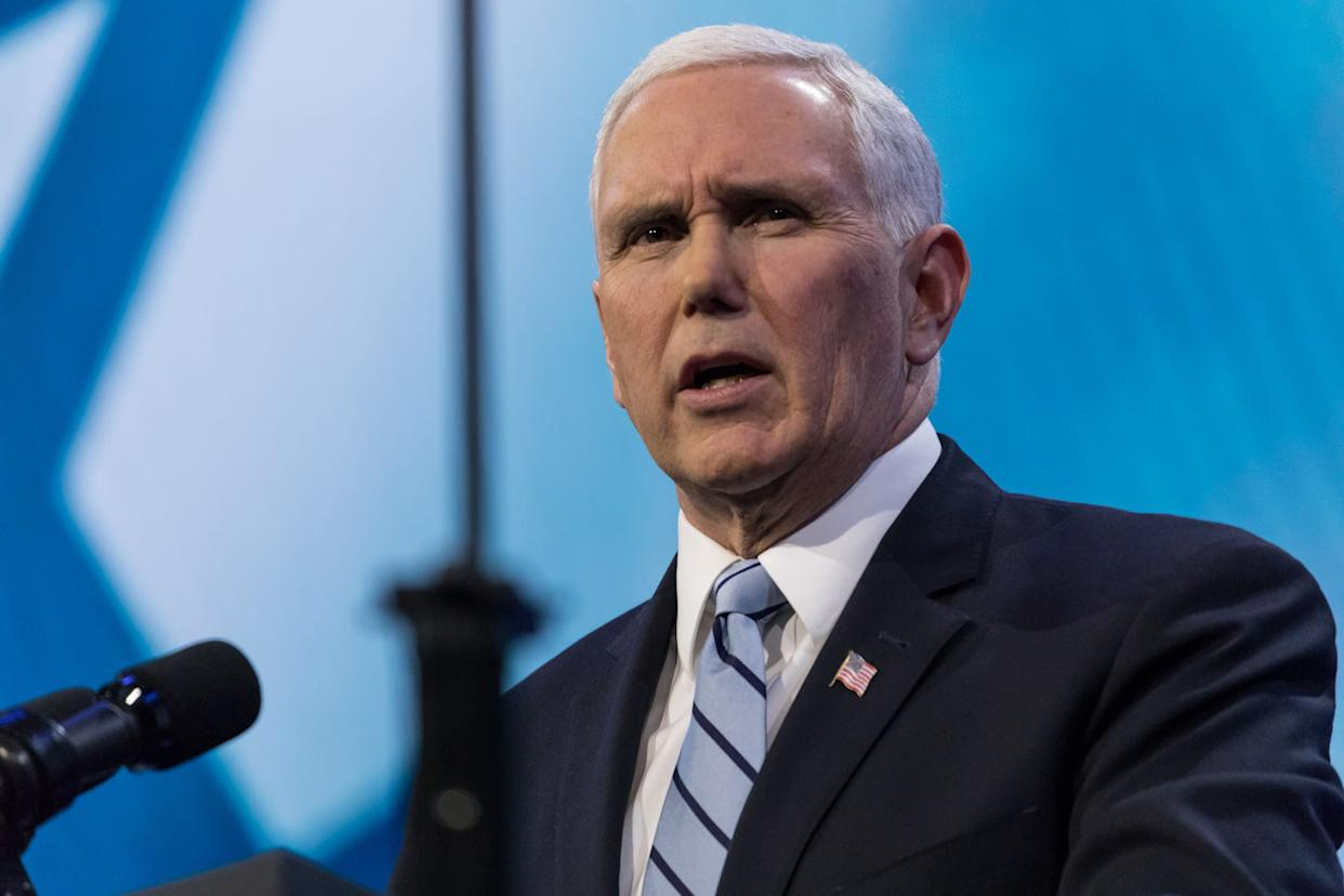 Vice President Mike Pence's longtime opposition to LGBTQ rights did not go unnoticed during his weekend stop in Savannah, Georgia. (Photo: NurPhoto via Getty Images)