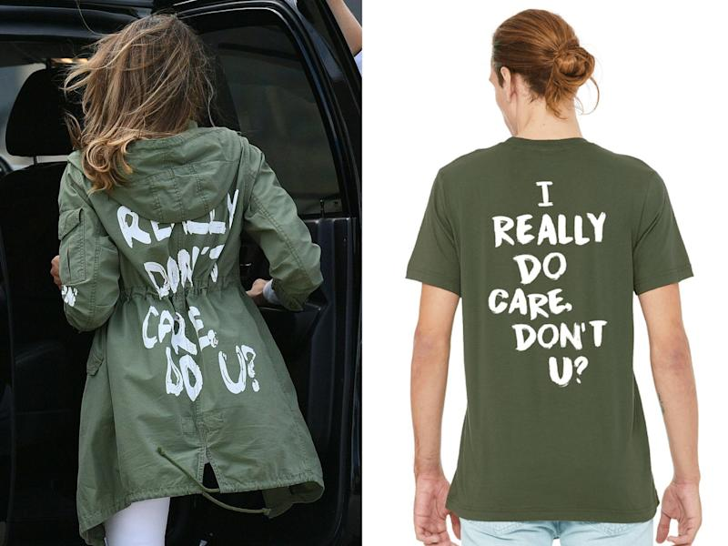 After Melania Trump's jacket, people are buying 'I really do care' T-shirts to raise money for immigrant charity