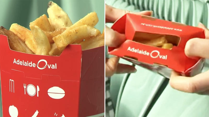 The hot chip packets, pictured here at Adelaide Oval.