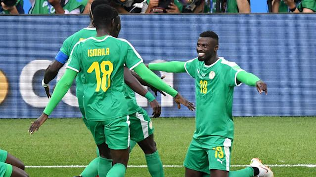Demba Ba and Yannick Bolasie led the party on social media after Aliou Cisse's men subdued the Europeans at Otkritie Arena on Tuesday