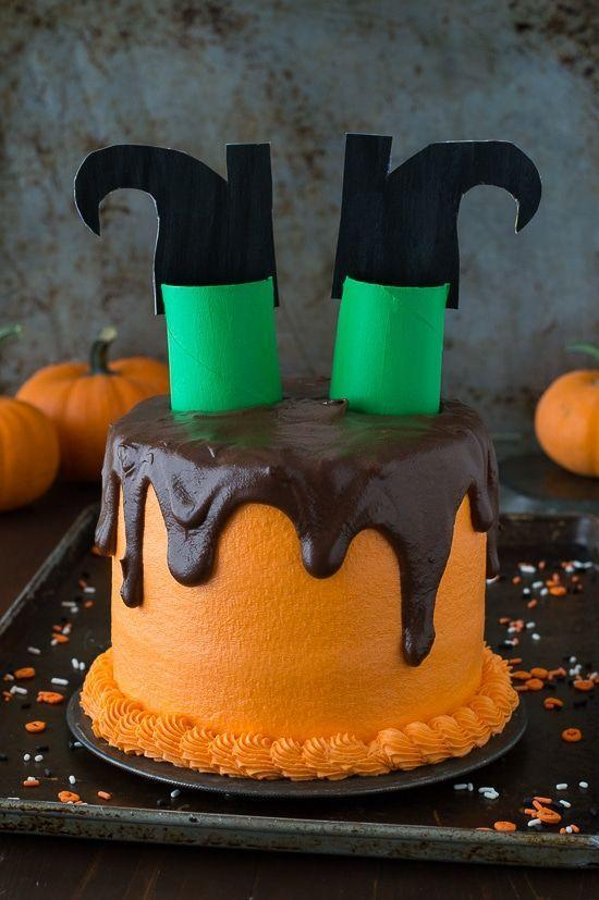 """<p>Instead of throwing water on the witch, cover her in chocolate ganache.</p><p>Get the recipe from <a href=""""http://thefirstyearblog.com/melted-witch-cake/"""" rel=""""nofollow noopener"""" target=""""_blank"""" data-ylk=""""slk:The First Year"""" class=""""link rapid-noclick-resp"""">The First Year</a>.</p>"""
