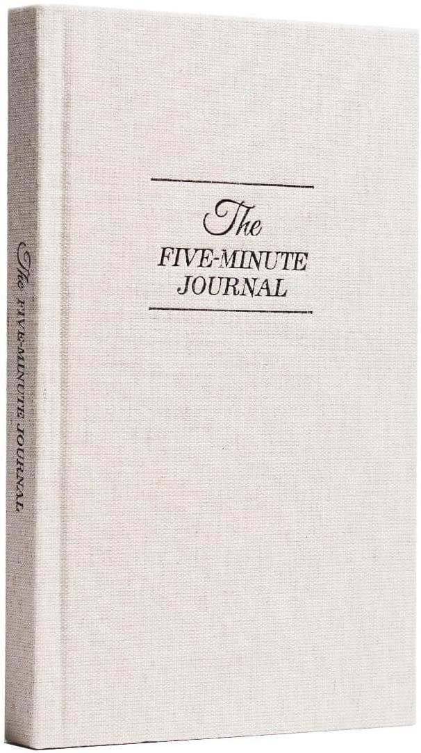 <p>I write in this <span>The Five Minute Journal</span> ($30) every morning and night, and it's been a great way for me to not only practice gratitude, but also signal that it's time for sleep.</p>