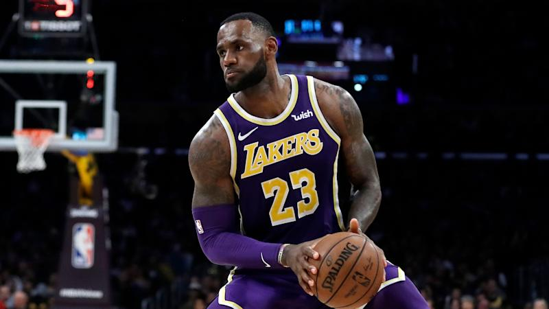 32eab3d3aae Los Angeles Lakers  LeBron James during an NBA basketball game against the  New Orleans Pelicans