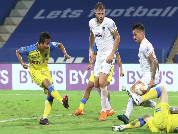 Lalthathanga Khawlhring equalised for Kerala with his first ever ISL goal (Image: ISL)
