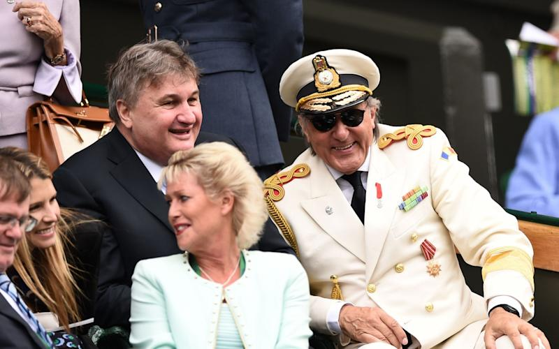 Ilie Nastase in the Wimbledon Royal Box back in 2015, he won't be invited this year - AFP