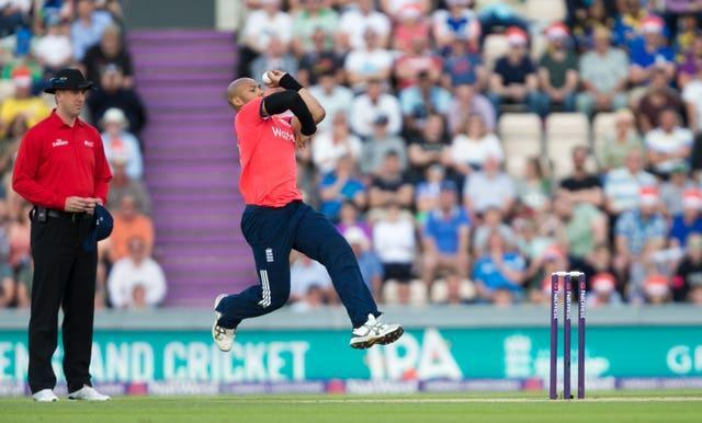 Tymal Mills in action for England