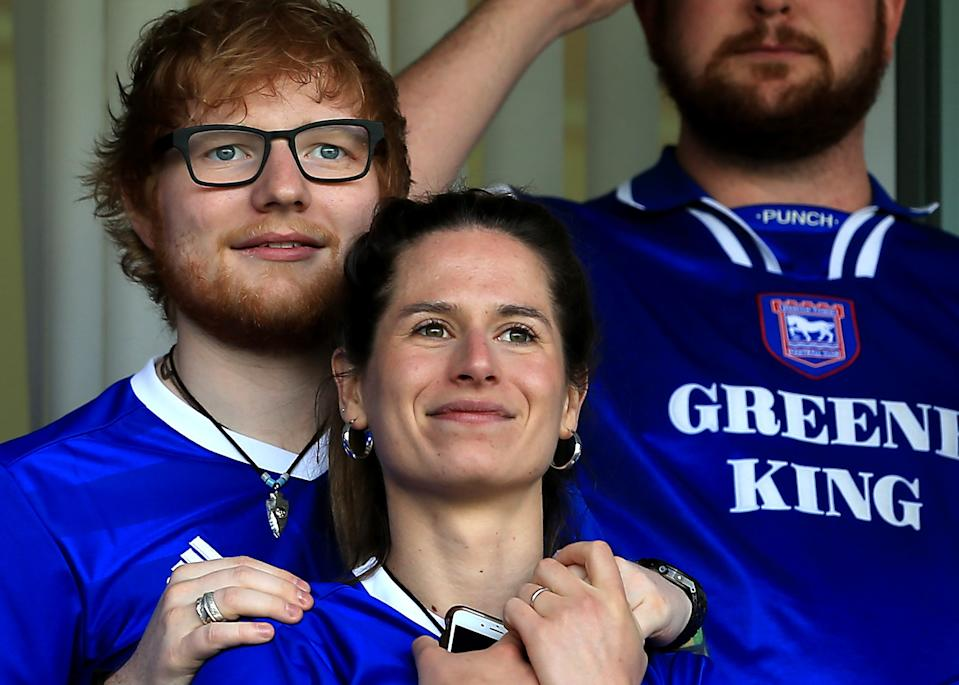 Ed Sheeran et Cherry Seaborn (Photo by Stephen Pond/Getty Images)