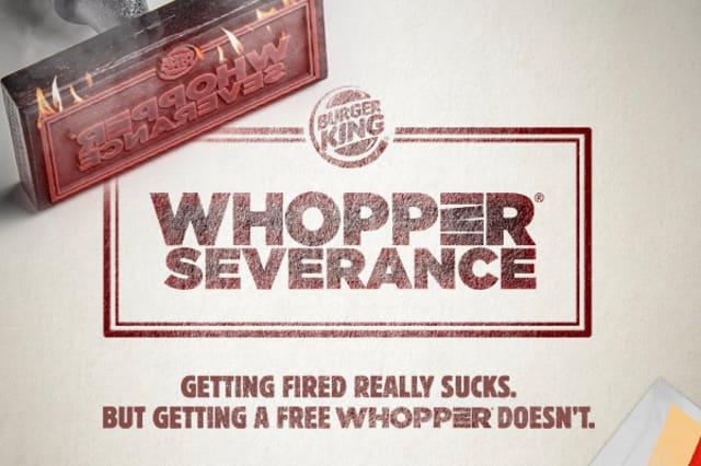 Get a free burger when you get fired