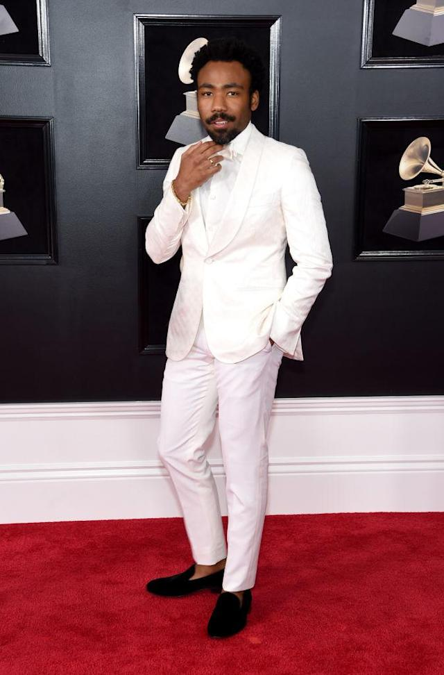 <p>Childish Gambino attends the 60th Annual Grammy Awards at Madison Square Garden in New York on Jan. 28, 2018. (Photo: John Shearer/Getty Images) </p>