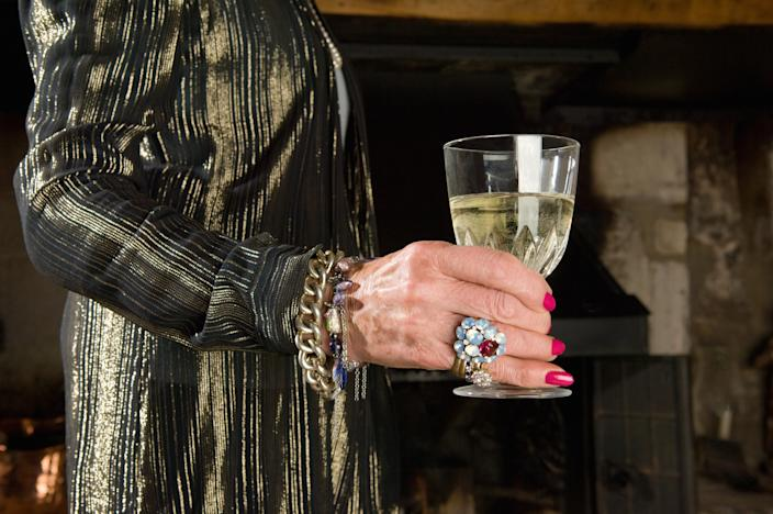 A 108 year old woman has put her long life down to quaffing champagne [Photo: SWNS]