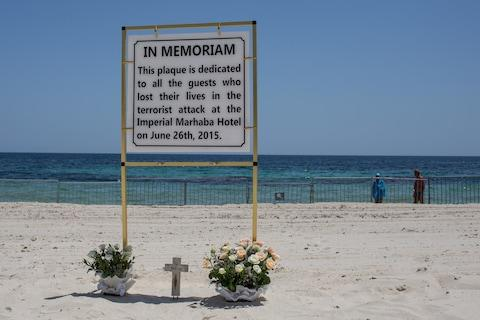 A plaque to commemorate the victims of the Sousse attack - Credit: 2016 Getty Images/Chris McGrath