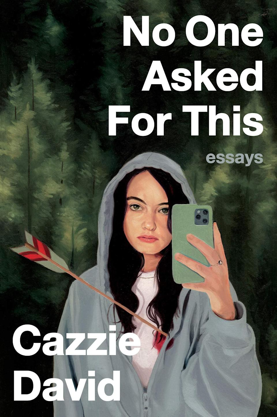 "<p>The sharp, anxiety-fueled essays in Cazzie David's <span><strong>No One Asked For This</strong></span> are exactly what the world needs after a year like 2020. David tackles social anxiety, shame spirals, and existential dread with the kind of gallows humor that will surely make her famous dad, <a class=""link rapid-noclick-resp"" href=""https://www.popsugar.com/latest/Larry-David"" rel=""nofollow noopener"" target=""_blank"" data-ylk=""slk:Larry David"">Larry David</a>, proud.</p> <p><em>Out Nov. 17</em></p>"