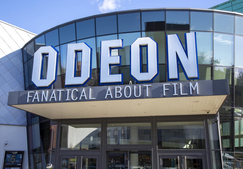 Modern architecture of Odeon cinema building in Trowbridge, Wiltshire, England, UK. (Photo by: Geography Photos/Universal Images Group via Getty Images)