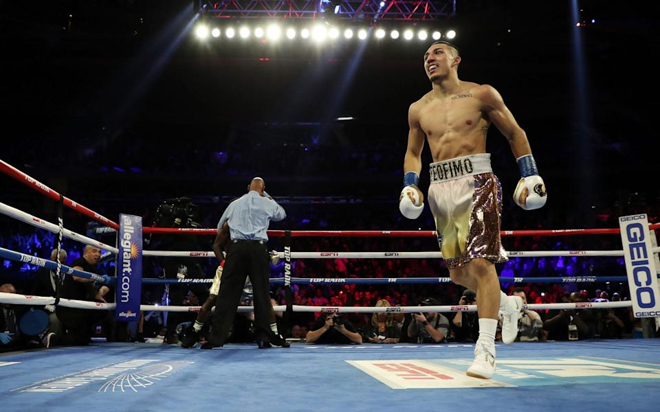 Teofimo Lopez doesn't lack for confidence in the ring - GETTY IMAGES