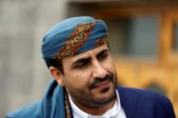 FILE PHOTO: Mohamed Abdulsalam, spokesman of the Houthi movement, looks on before a meeting with U.N. special envoy for Yemen Ismail Ould Cheikh Ahmed in Sanaa, Yemen