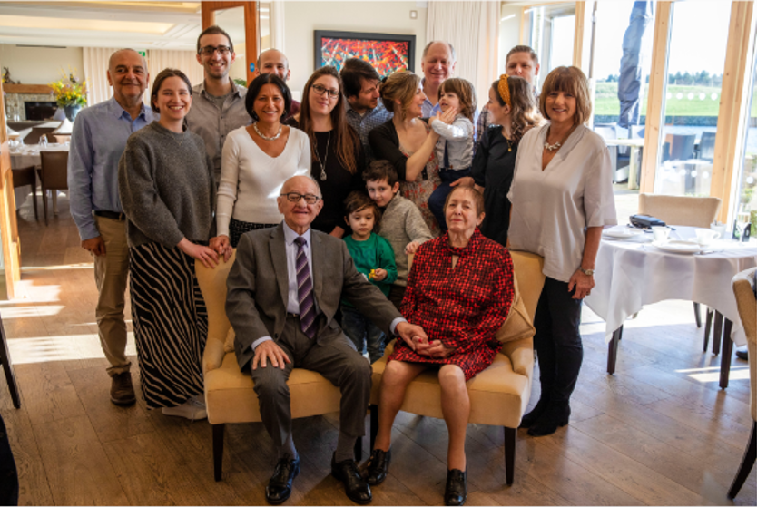 Zigi Shipper and his family at his 90th birthday celebration. (Holocaust Educational Trust)
