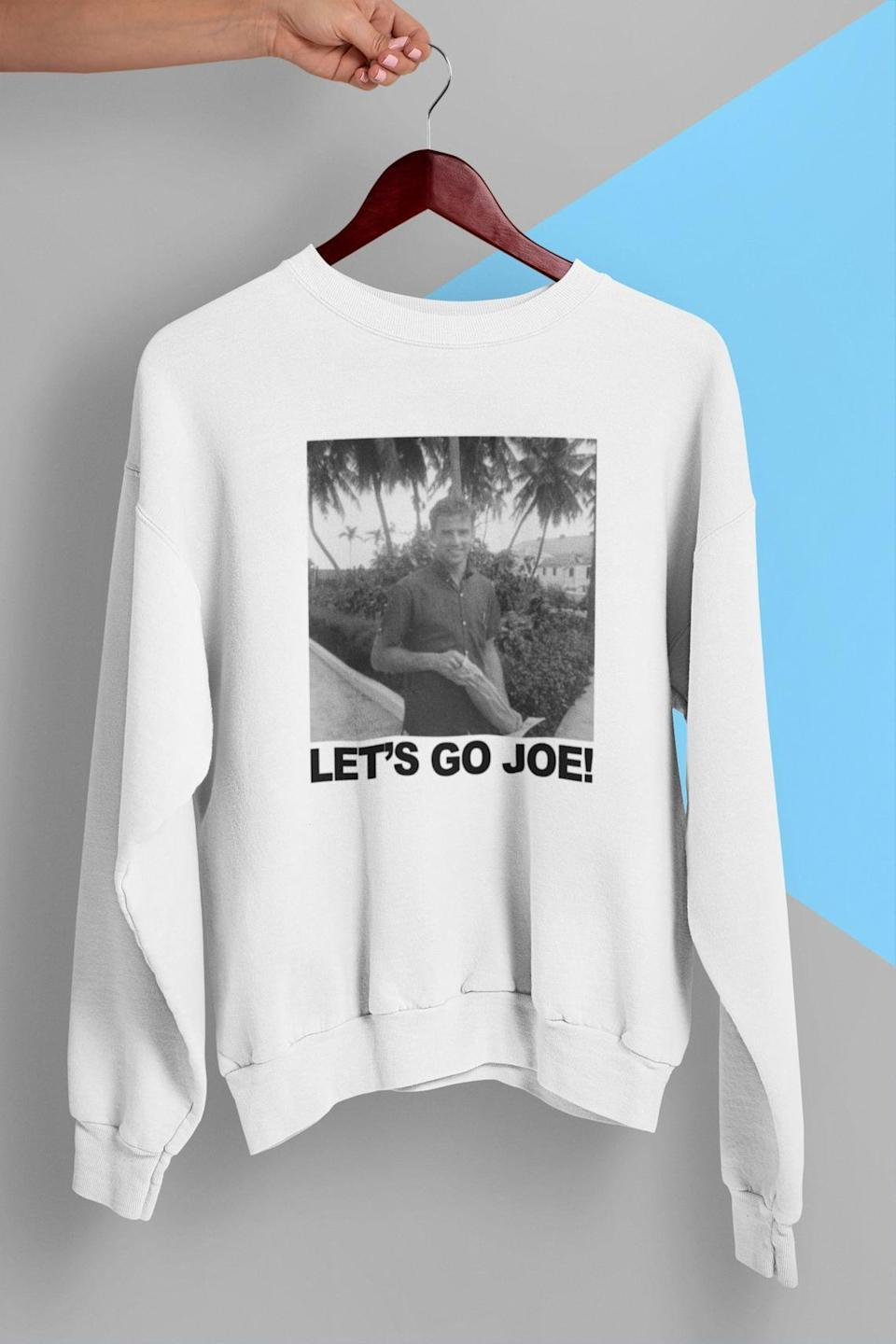 <p><span>Young Joe Biden Lets Go Joe 2020 Crewneck Sweatshirt</span> ($34)</p>