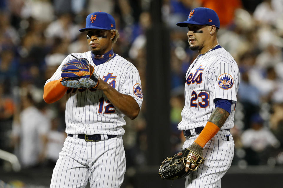 Javier Baez and Francisco Lindor with the Mets.