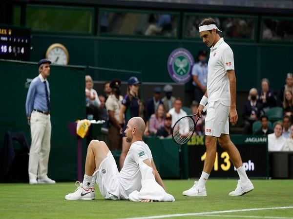 Roger Federer and Adrian Mannarino
