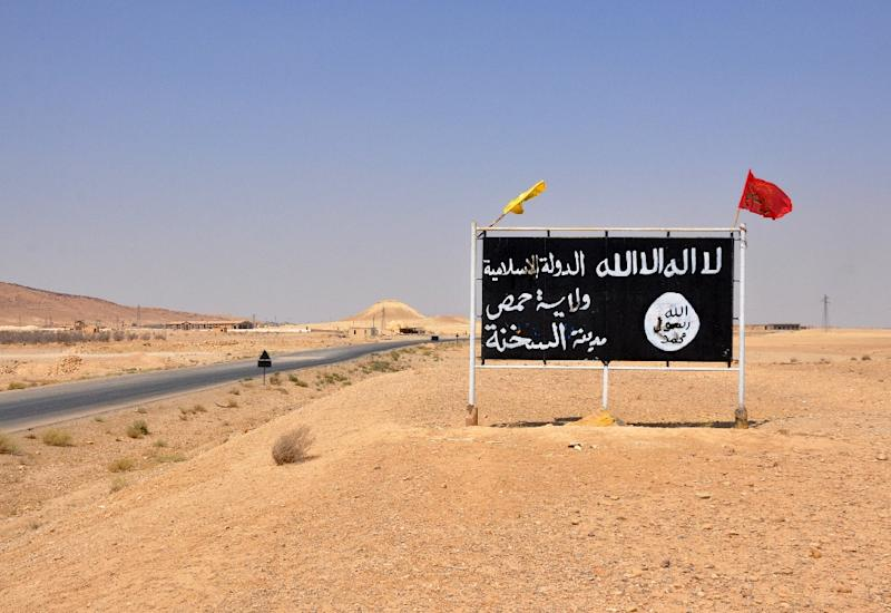 At the height of its rule, the Islamic State group imposed its brutal ideology on millions in territory roughly the size of the United Kingdom (AFP Photo/STRINGER)