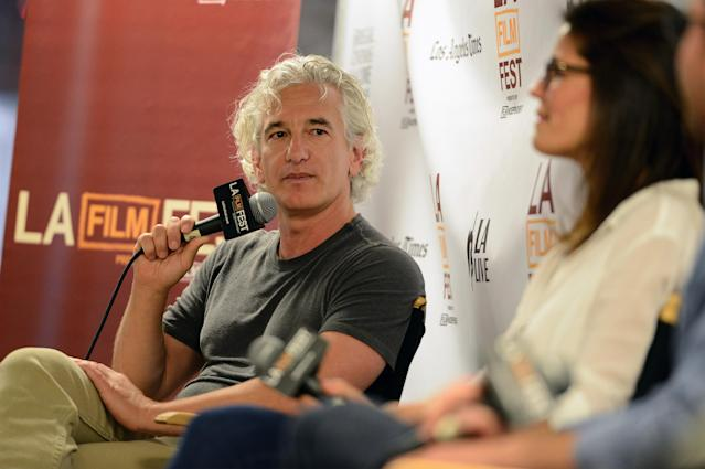 LOS ANGELES, CA - JUNE 15: Screenwriter Ed Solomon speaks onstage at Coffee Talks: Screenwriters during the 2014 Los Angeles Film Festival at Luxe City Center Hotel on June 15, 2014 in Los Angeles, California. (Photo by Araya Diaz/WireImage)