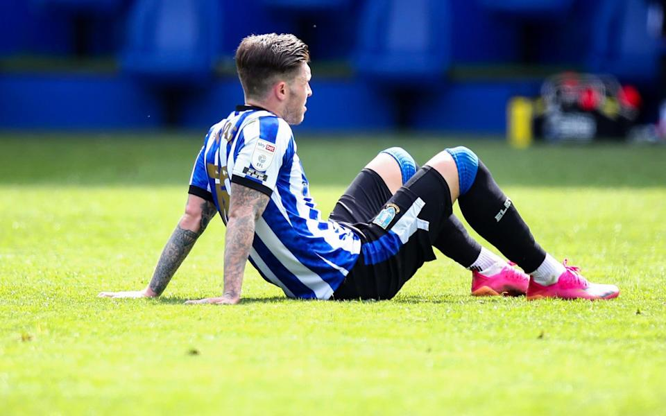 Josh Windass of Sheffield Wednesday reacts at full time during the Sky Bet Championship match between Sheffield Wednesday and Nottingham Forest at Hillsborough Stadium on May 1, 2021 in Sheffield, England. - GETTY IMAGES