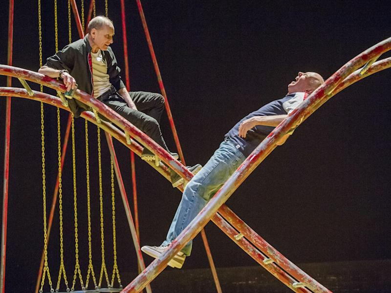 Michael Feast as Mike and Roger Sloman as Tom in 'Seventeen' at the Lyric: Tristan Kenton