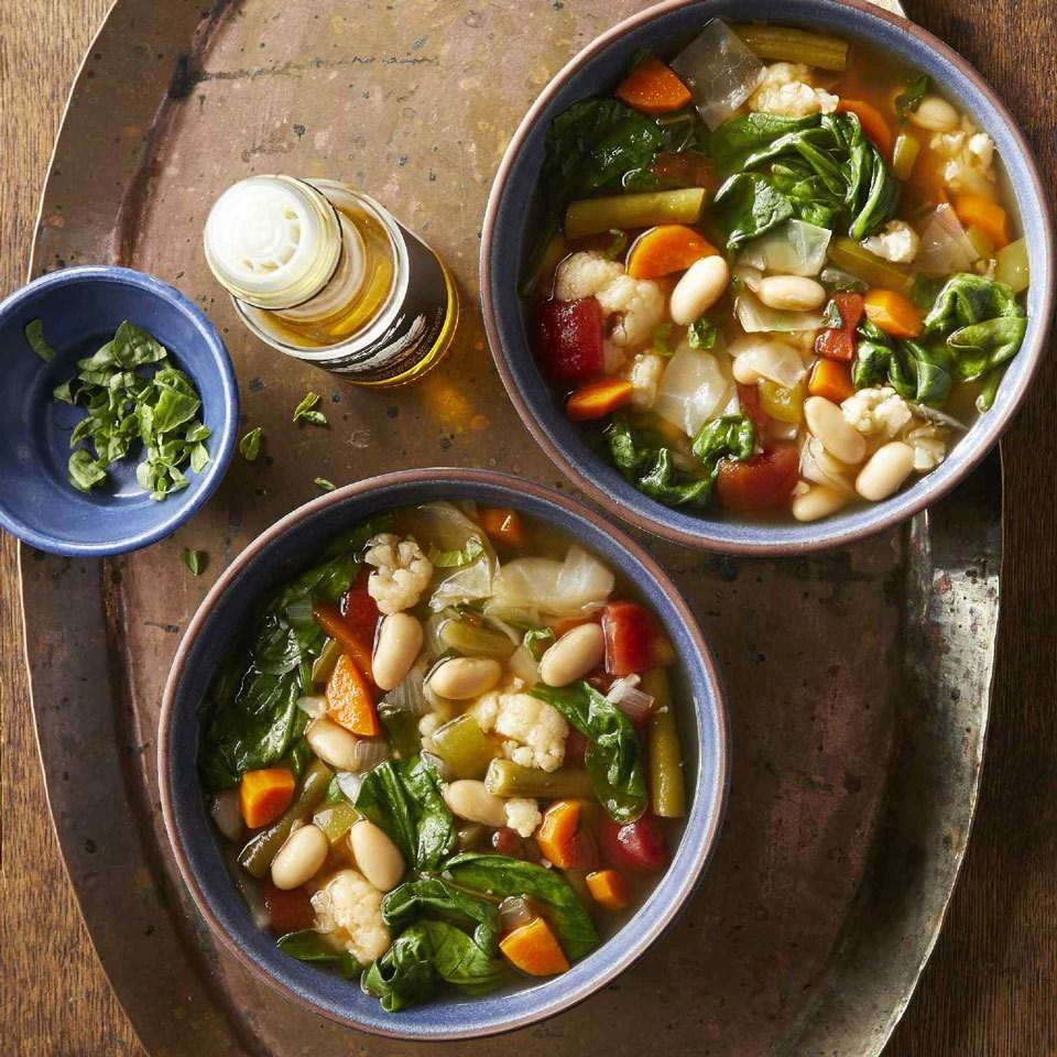 <p>This easy soup recipe cooks up quickly thanks to the use of an electric pressure cooker or multicooker, like the Instant Pot. It packs in tons of filling veggies without packing on the calories. Plus, it happens to be entirely plant-based. If you aren't eating vegan, top it with a little Parmesan cheese or pesto to add even more flavor.</p>