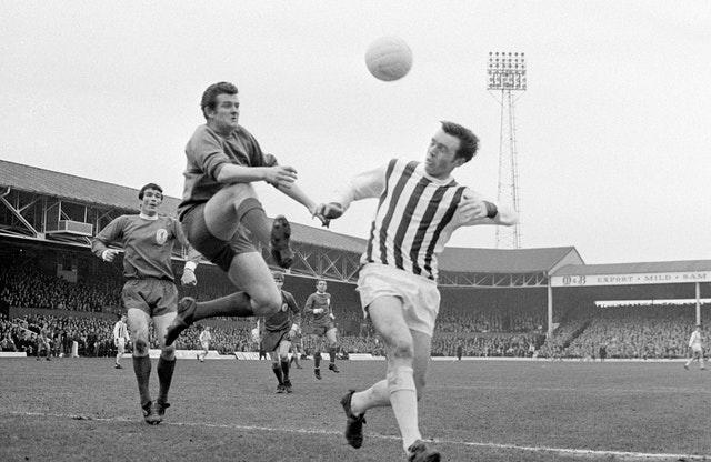 A coroner ruled that the death of former England striker Jeff Astle (right) was caused by repeated heading of a football