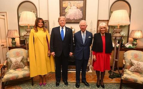 Prince Charles and the Duchess of Cornwall met Mr Trump and his wife Melania at Clarence House - Credit: Victoria Jones