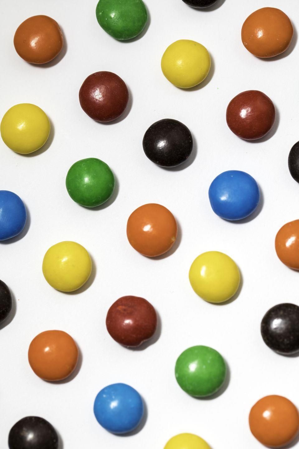 <p><strong><em>How many colors of M&Ms are there in a normal bag?</em></strong></p><p><strong>Answer:</strong> Six. The colors in a regular bag of M&Ms are red, orange, yellow, green, blue, and brown. In 1995, consumers were asked to vote on what color they wanted to replace the original tan M&Ms. Blue won and was introduced later that same year.</p>