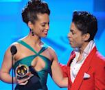 """<p>In an emotional post on her website, Alicia Keys — who <a href=""""https://www.youtube.com/watch?v=RAwJXCGB0CQ"""" rel=""""nofollow noopener"""" target=""""_blank"""" data-ylk=""""slk:inducted Prince into the Rock and Roll Hall of Fame"""" class=""""link rapid-noclick-resp"""">inducted Prince into the Rock and Roll Hall of Fame</a> in 2004 — wrote about the ways in which he'd influenced her artistry.</p><p>""""Perhaps the most tremendous thing Prince showed us is how music can be the closest expression of freedom,"""" she <a href=""""http://www.aliciakeys.com/prince/"""" rel=""""nofollow noopener"""" target=""""_blank"""" data-ylk=""""slk:wrote"""" class=""""link rapid-noclick-resp"""">wrote</a>. """"The only person who can keep chains around us and box us up is ourselves. He never gave in. I'm grateful for his example. I'm that much more free because of Prince.""""<br></p><p>And Thursday night, during a concert in New York, Keys spoke about trying to get her hero on the phone when she was seeking permission to cover """"How Come U Don't Call Me Anymore?"""" He put her <a href=""""http://pagesix.com/2016/04/22/prince-once-put-alicia-keys-on-hold-10-times/?utm_source=twitter&utm_medium=site%20buttons&utm_campaign=site%20buttons"""" rel=""""nofollow noopener"""" target=""""_blank"""" data-ylk=""""slk:on hold 10 times"""" class=""""link rapid-noclick-resp"""">on hold 10 times</a> before he would actually speak to her. In the end, everything worked out, and Keys's cover, retitled """"How Come You Don't Call Me"""" appeared on her debut album, <i>Songs in a Minor</i>. </p>"""