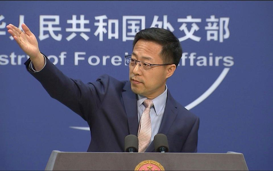 Chinese foreign ministry spokesperson Zhao Lijian has doubled down, pinning the tweet to the top of his Twitter page - Liu Zheng/AP