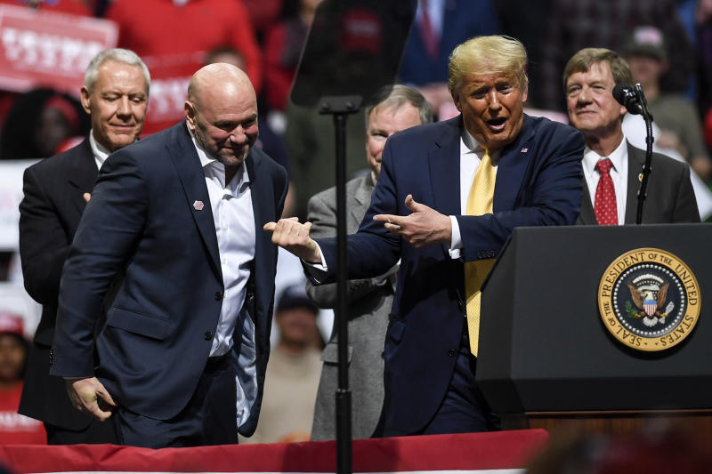 Dana White and Donald Trump have long been in each other's corners. (AAron Ontiveroz/The Denver Post/Getty Images)