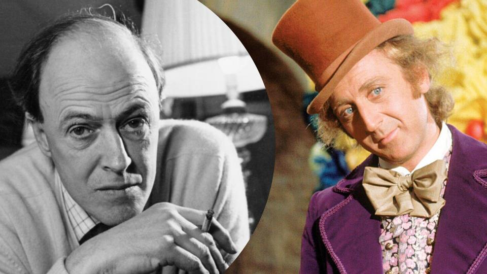 Roald Dahl, Gene Wilder portraying Dahl's Willy Wonka. Images: Getty, Paramount Pictures